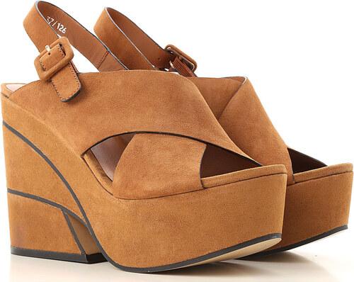 cc2318e4e0ad7 Elvio Zanon Kadınlar İçin Klasik ve Spor Dolgu Topuklu Ayakkabılar İndirimli  Satış, Konyak rengi,