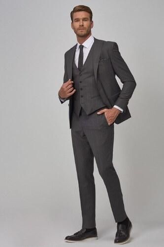 5ff6b46d8a3ee ALTINYILDIZ CLASSICS Erkek Antrasit Ekstra Slim Fit Yelekli Nano Takım  Elbise 4A3119100038