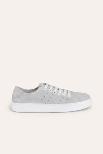 03f57cfeda403 Mudo Kadın Beyaz Süet Görünümlü Bağcıklı Sneaker Spor Ayakkabı 1204258