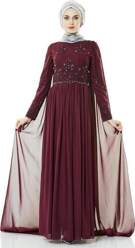 ce1ace881173c Fashion Night Abiye Elbise-Mürdüm 2140-51 - Glami.com.tr
