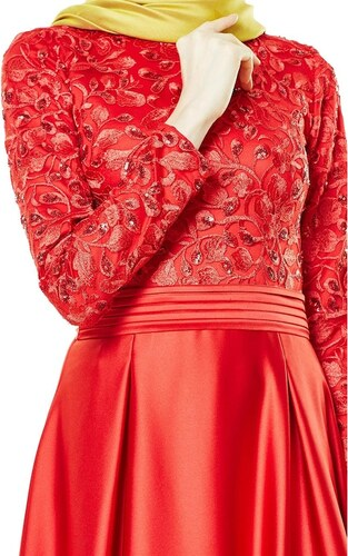 3568e8988b36d E-Tesettür Fashion Night Abiye Elbise-Bordo 2145-67 - Glami.com.tr