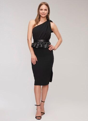 e20c1d763140e People By Fabrika Kadın Tek omuz detaylı Elbise Siyah - Glami.com.tr