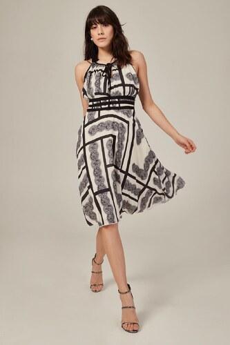 3254256692885 Patırtı Kadın Beyaz Askılı Dantel Desenli Elbise - Glami.com.tr