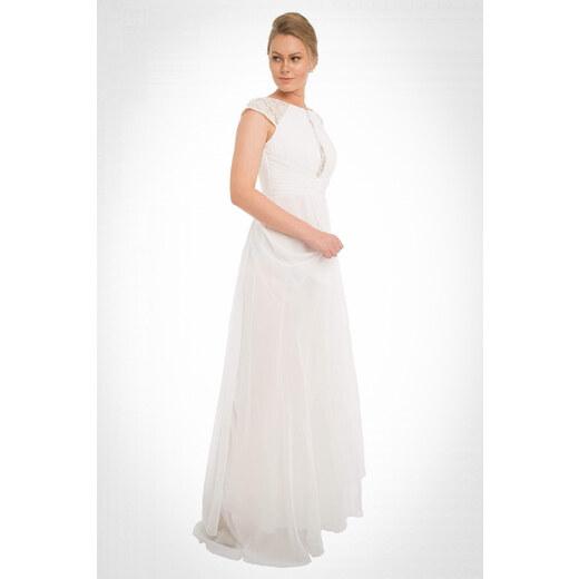 a80a940d485e6 Pierre Cardin Kadın Ekru Şifon Dantel İşlemeli Uzun Abiye Elbise PC54897 -  Glami.com.tr