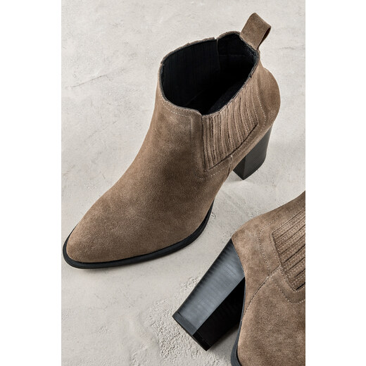 18050833601ce Elle Shoes Hakiki Deri Vizon Kadın Bot - Glami.com.tr