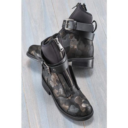b2fabc7a30c4e Elle Shoes AUROORE Hakiki Deri Kamuflaj Kadın Bot - Glami.com.tr