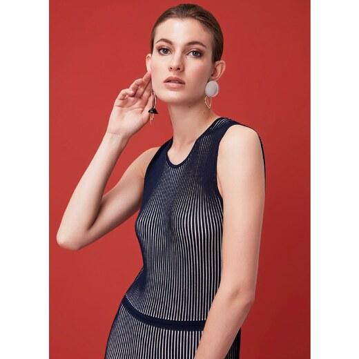 41dacb1f826ea Ipekyol Kadın Pilisole Form Kolsuz Elbise Lacivert - Glami.com.tr