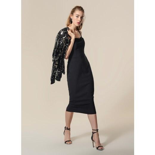 6d6817c129efe Agenda Kadın İnce Askılı Elbise Siyah - Glami.com.tr
