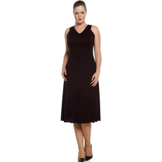 dd62f872aca2c Nidya Moda Kadın Mürdüm Örme Abiye Elbise 4064M - Glami.com.tr