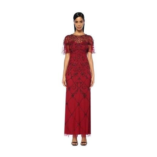 b6d6da572cc4b Aidan Mattox Kadın Bordo İşlemeli Yarım Kol Maksi Abiye Elbise 2 US -  Glami.com.tr