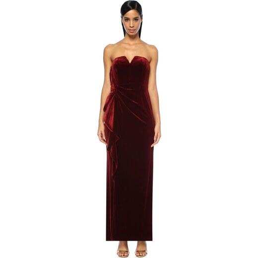 3155e7d52a8c7 Aidan Mattox Kadın Elbise Bordo - Glami.com.tr