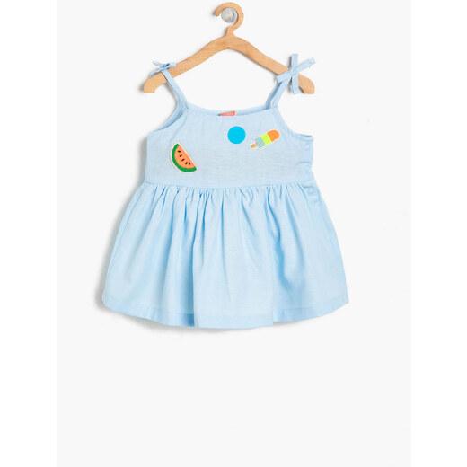 ab2005afd75df Koton Kids Açık Mavi Kız Bebek Elbise - Glami.com.tr