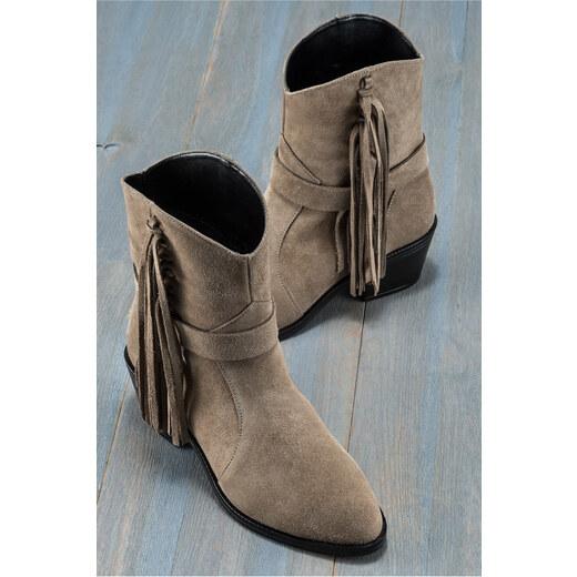 eec36f908061f Elle Shoes MATERA Hakiki Deri Vizon Kadın Bot - Glami.com.tr