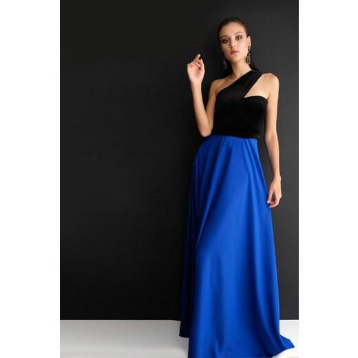 c6ff37ce3019e Spazio Kadın Mavi Abiye Elbise 60096532 - Glami.com.tr