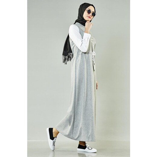 a1febeb40cf19 E-Tesettür Mood Basic Spor Elbise-Gri 5095-04 - Glami.com.tr