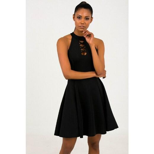 a42717284d95c By Saygı Kadın Siyah Yaka Çapraz Biyeli Likra Dalgıç Kloş Abiye Elbise  S-19Y0310002 - Glami.com.tr