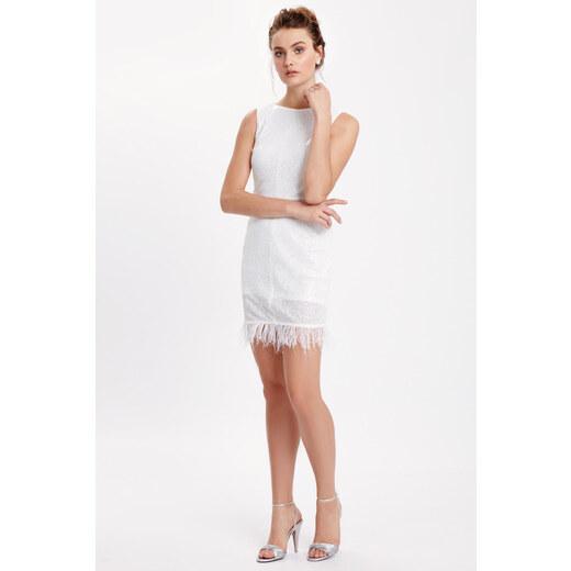 28015ad44f576 LC Waikiki Kadın Beyaz Elbise 8SB978Z8 - Glami.com.tr